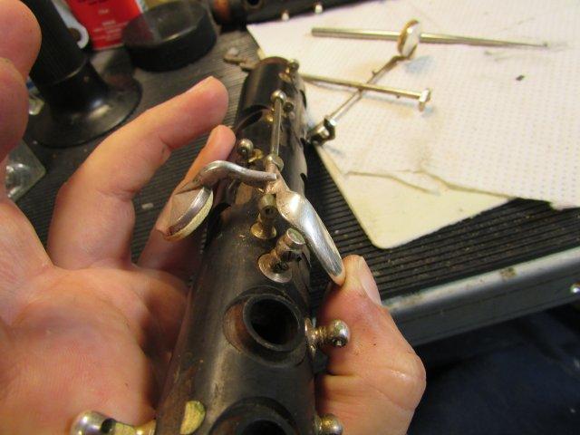 Renowacja klarnetu przed i po - BRAND MARTIN FRERES SUPRA 4